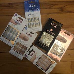Lot of 6 Press On Nails NWT Nail Kits Glue On 💋